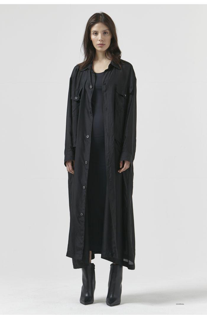 KATHARINE BLACK SILK DRESS