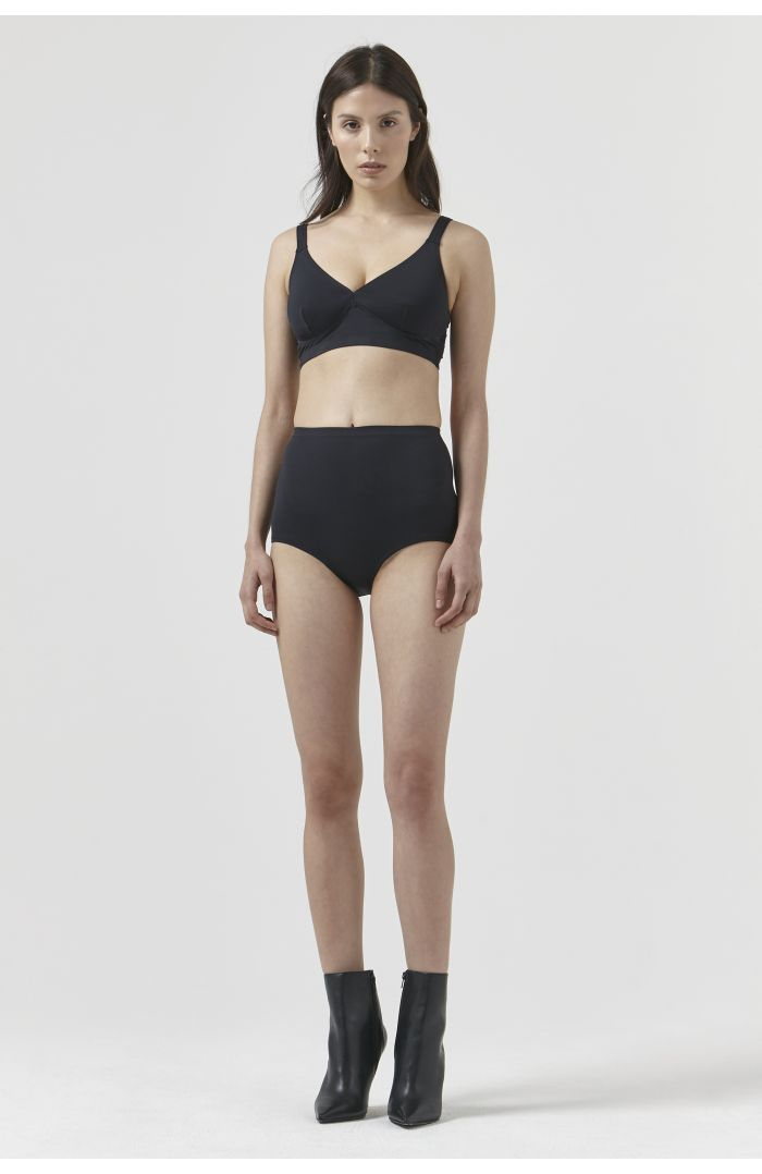 SOUTH PACIFIC BLACK RECYCLED POLYESTER BRA & PANTS