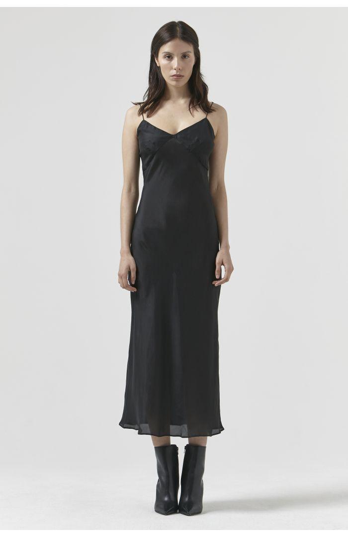 SARA BLACK SILK DRESS