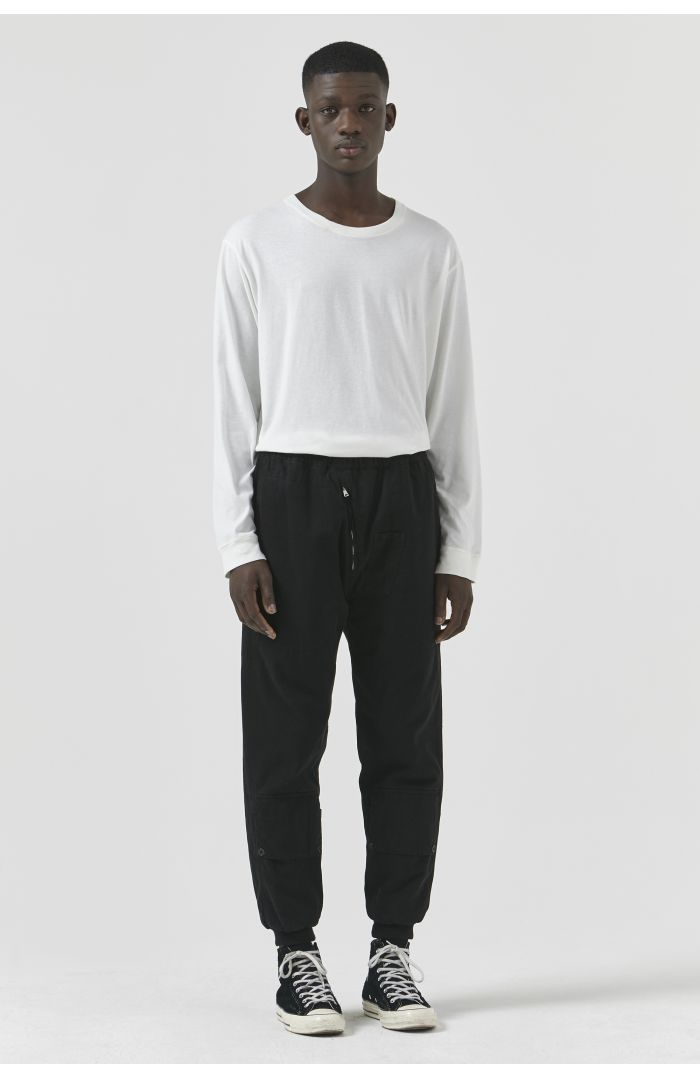 Adam Black Organic Cotton Trousers