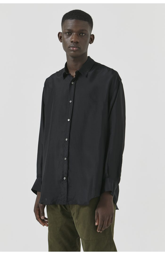 NICOLA BLACK SILK SHIRT