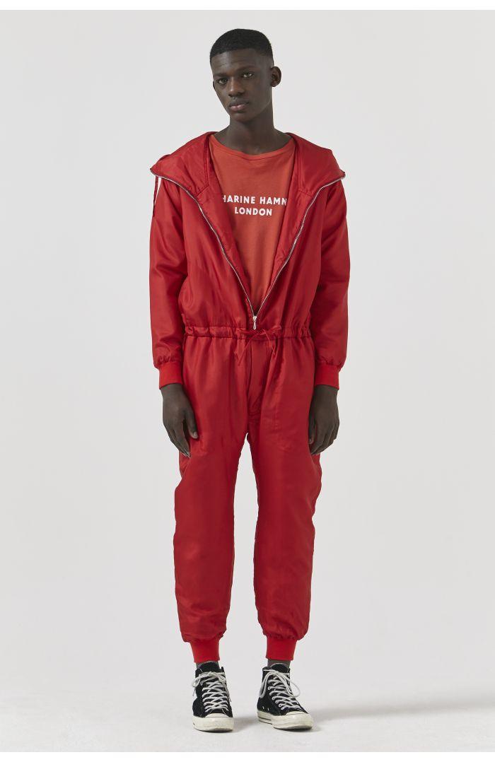 Redford Red Silk Onesie