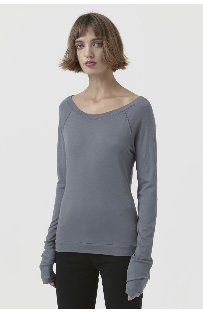 Caterina Grey Organic Cotton T-Shirt