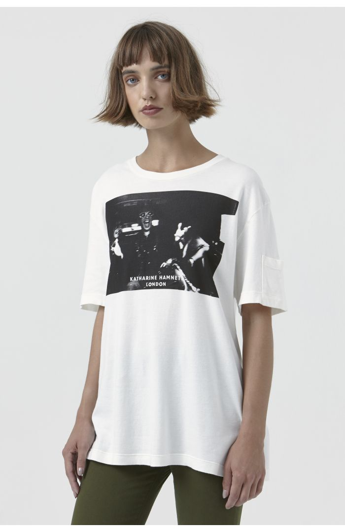 Ivan White Organic Cotton Campaign T-Shirt