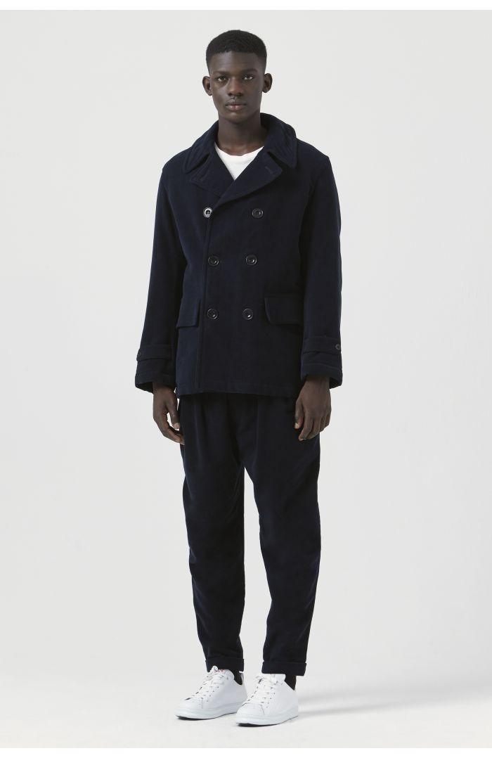 Marzio Navy Organic Cotton Pea Jacket