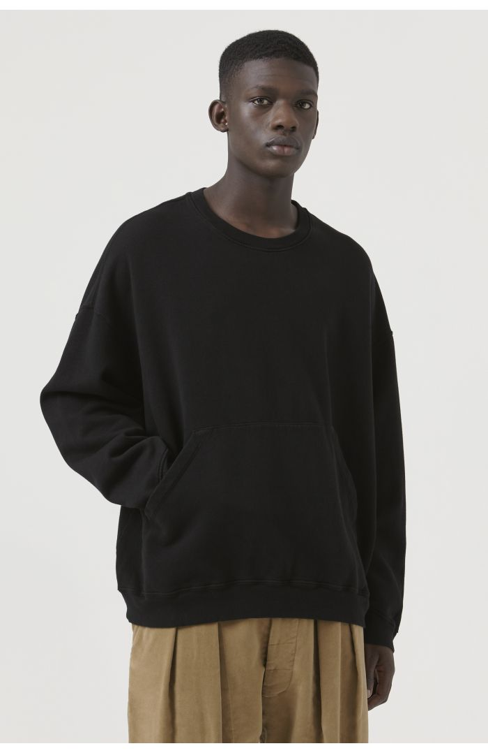 Joey Black Organic Cotton Sweatshirt