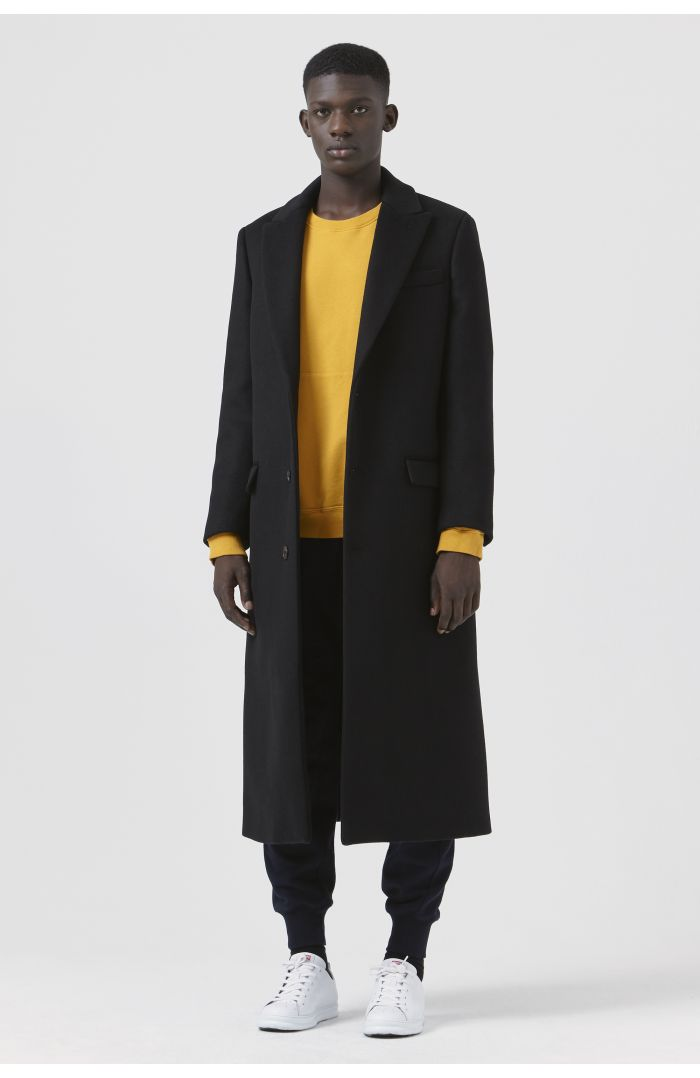 Darwall Black Recycled Wool Coat