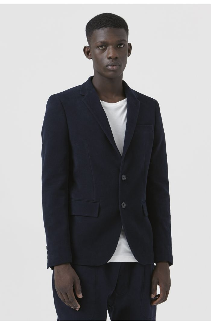 Rufus Navy Organic Cotton Blazer