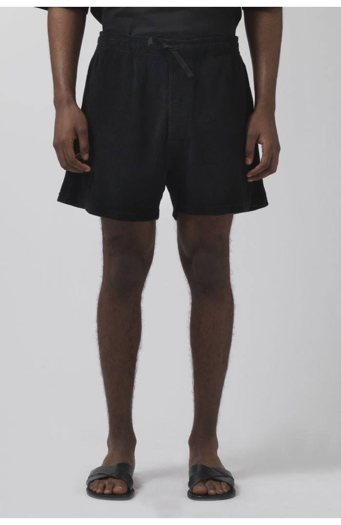 Lucien black French Terry shorts