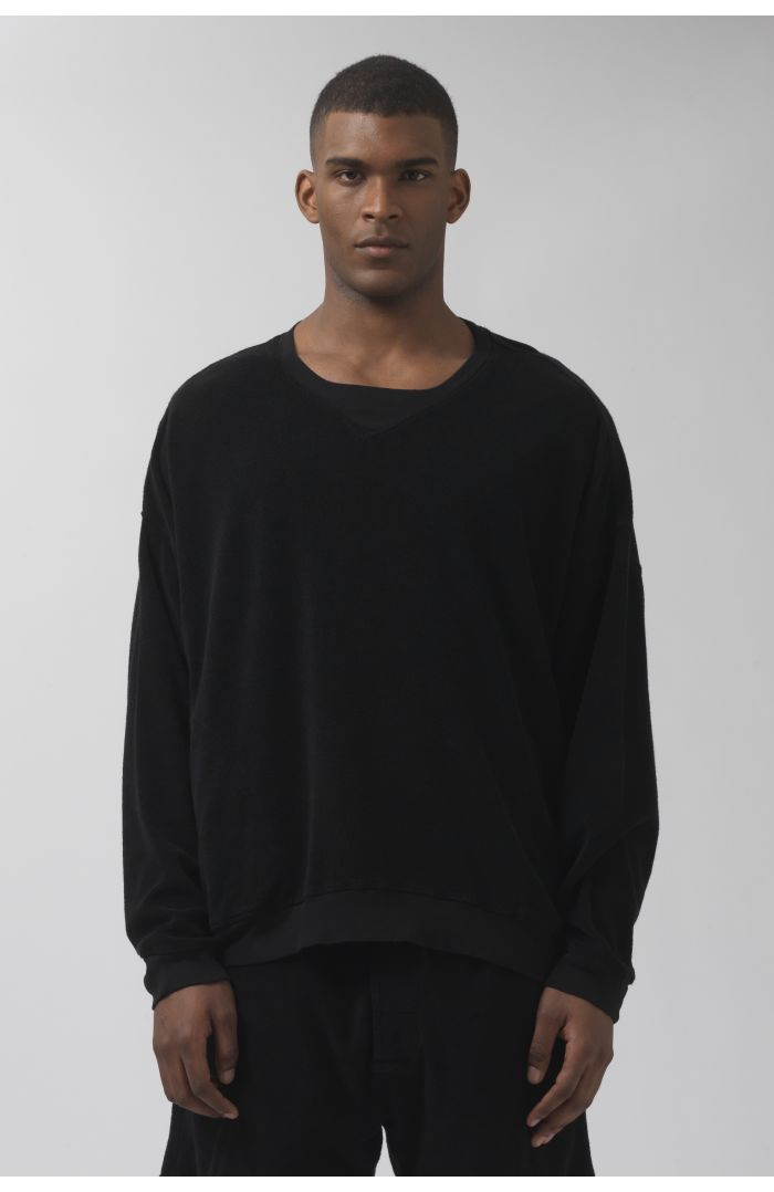 Vince black French Terry sweater
