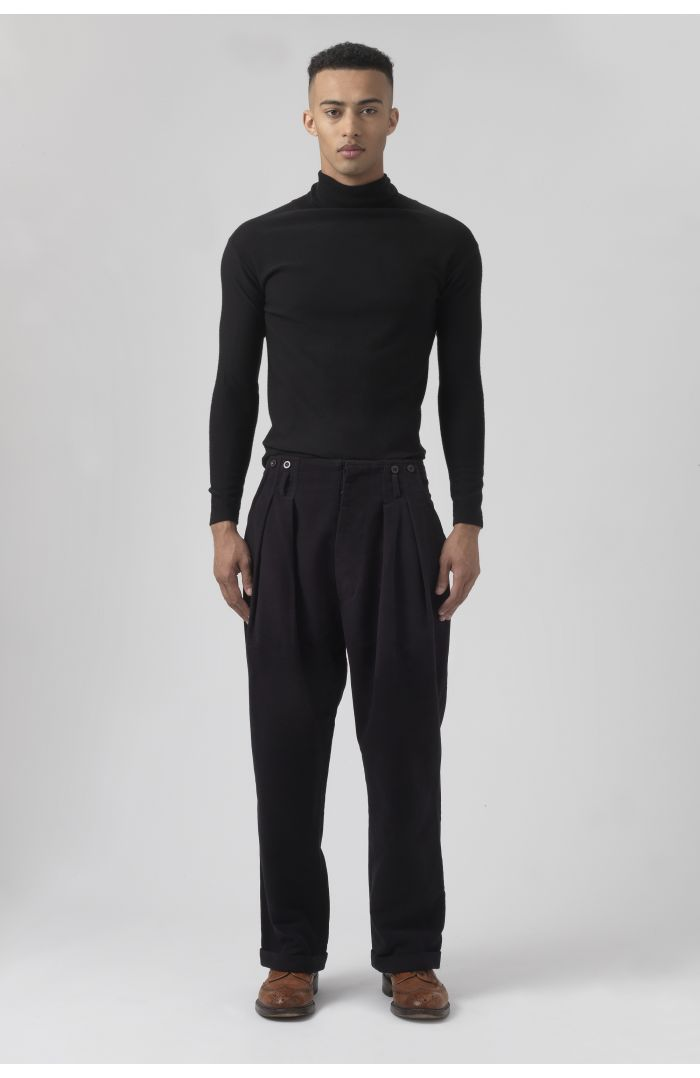 Ace Black Organic Cotton Trousers