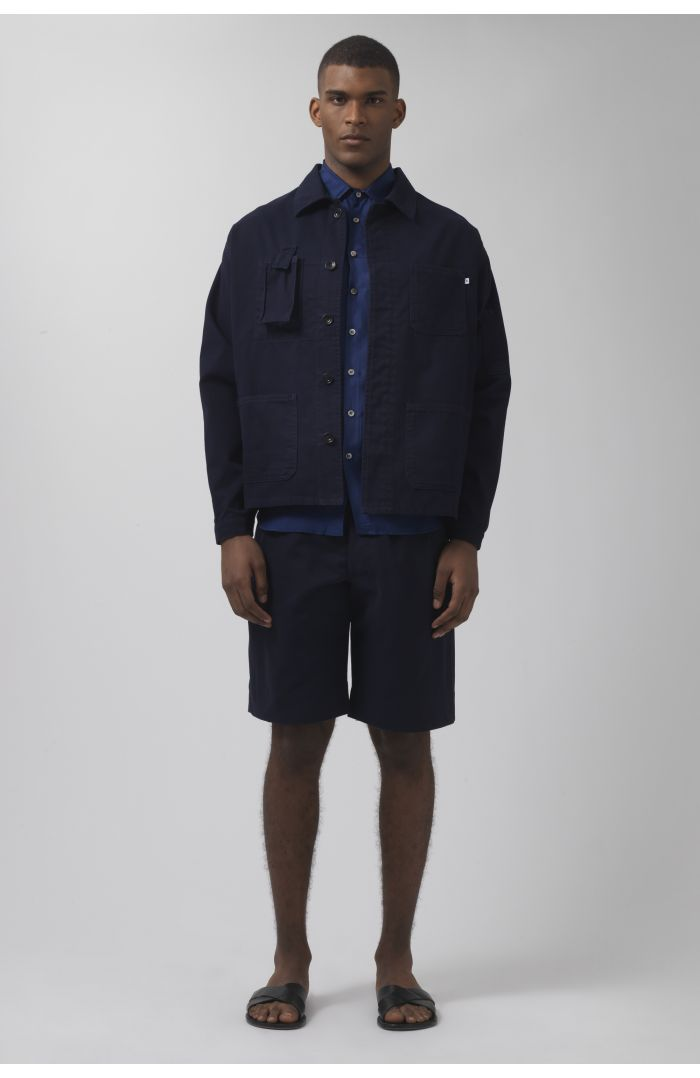 Patrick navy organic cotton jacket