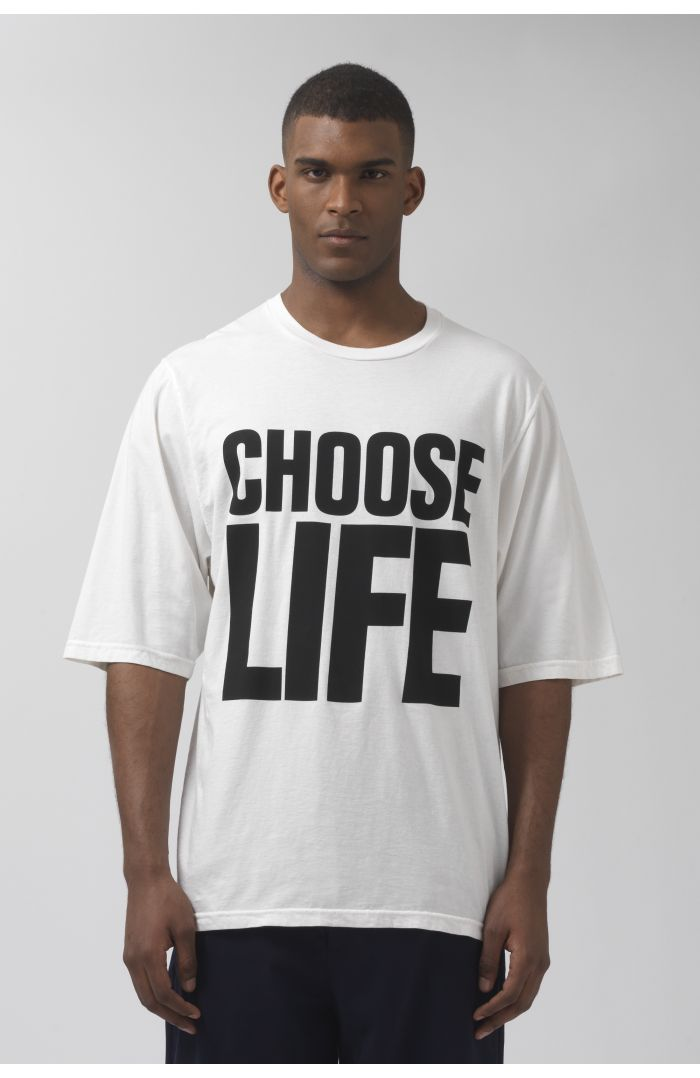 CHOOSE LIFE OVERSIZED ORGANIC COTTON T-SHIRT