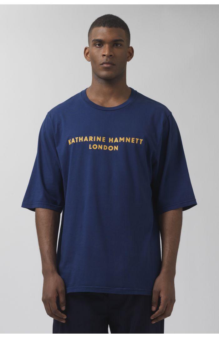 George deep blue organic cotton t-shirt