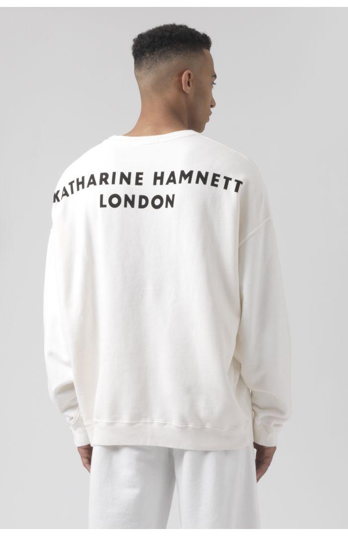 Joey White Organic Cotton Sweatshirt