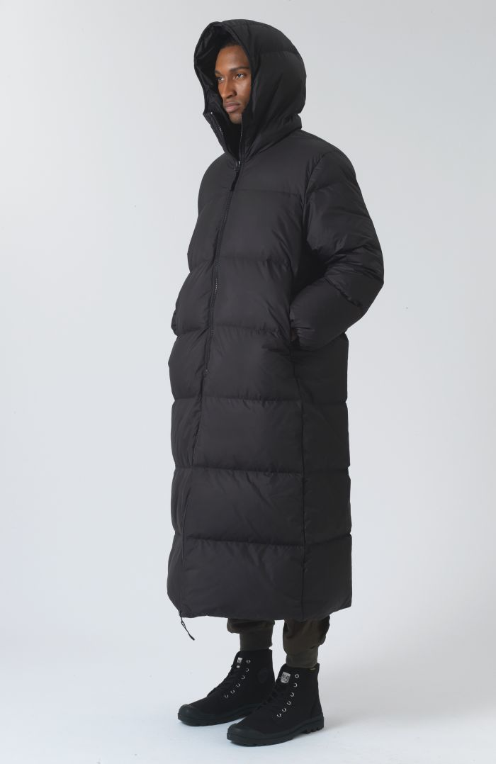 Claude Black Recycled Polyester Parka