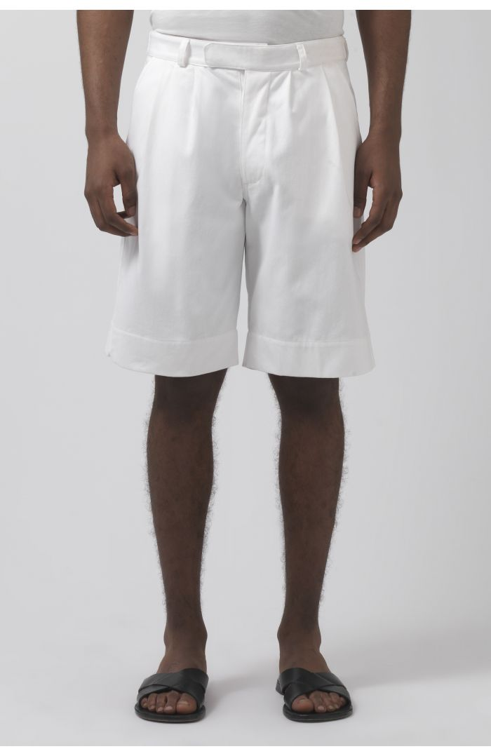 Army white organic cotton shorts
