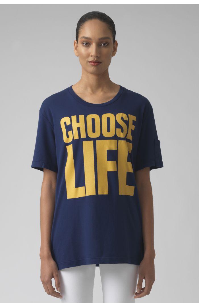 Choose Life DEEP BLUE Organic cotton t-shirt