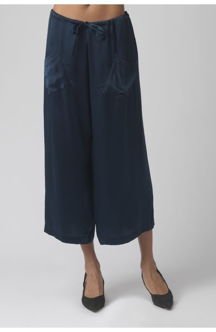 Tina teal silk trousers