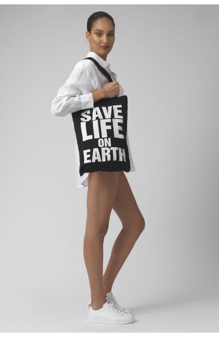 SAVE LIFE ON EARTH BLACK BAG