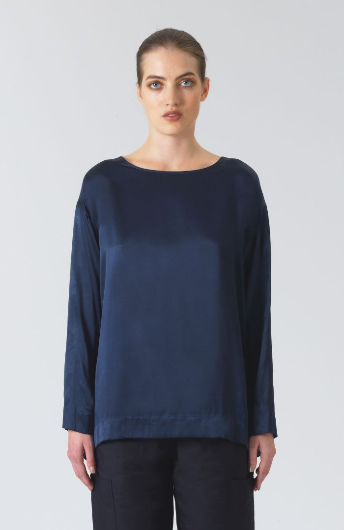 Meg Green Silk T-Shirt