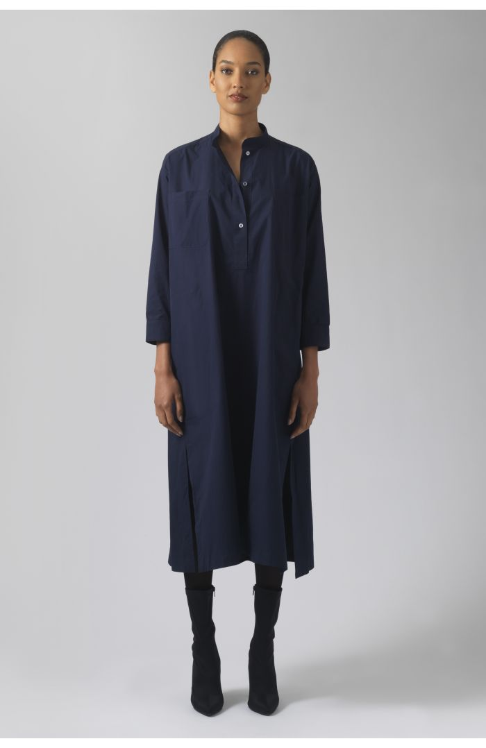 Kath navy organic cotton dress