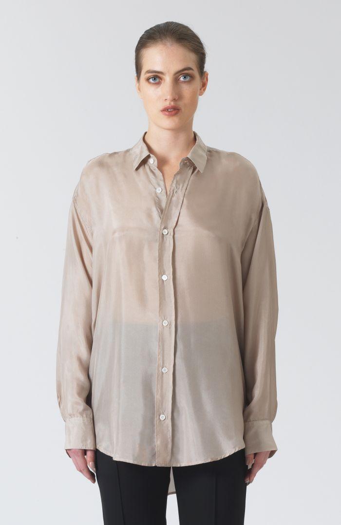 Nicola Sand Silk Shirt