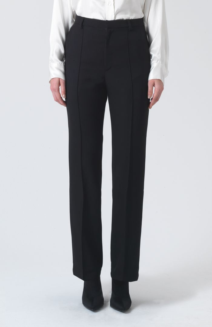 Dina Black Wool Trousers