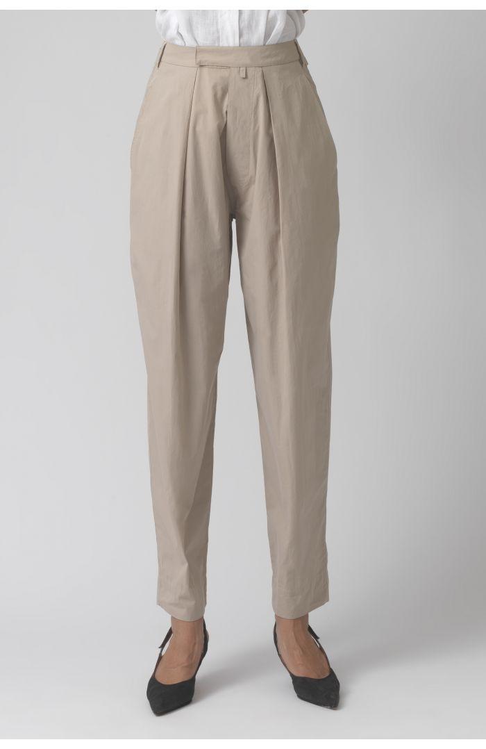 Bonnie sand organic cotton trousers