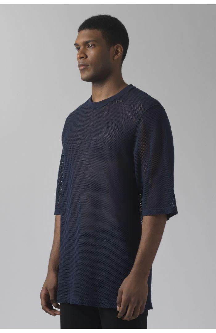 Ivanoe navy mesh t-shirt