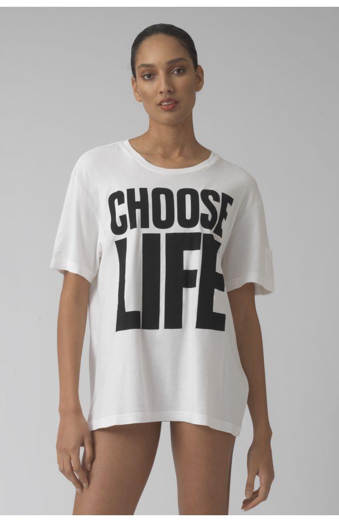 Choose Life WHITE Organic cotton t-shirt