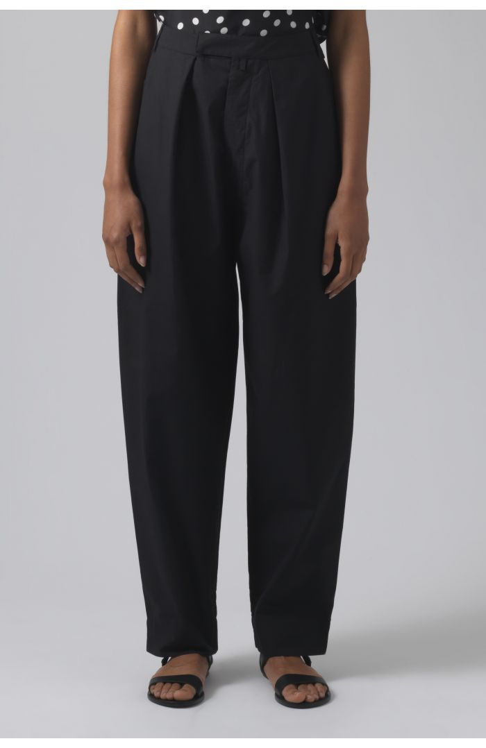 Bonnie black organic cotton trousers