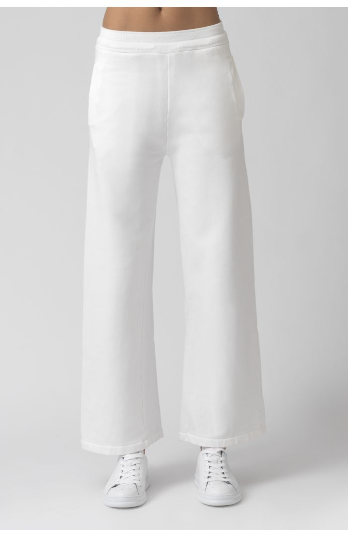 Vale White Organic Cotton Trackpant