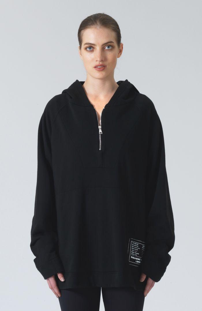 Rico Black Organic Cotton Hoodie