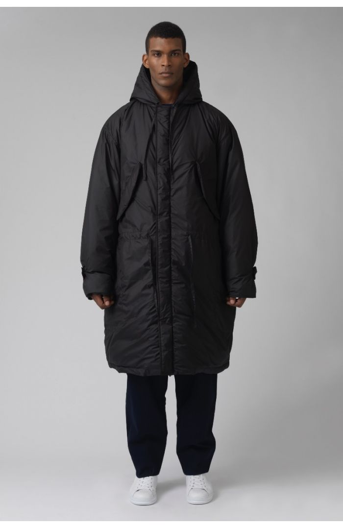 Will Black Recycled polyester Parka