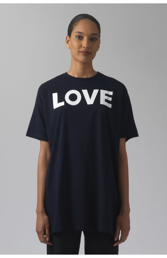 LOVE NAVY ORGANIC COTTON T-SHIRT