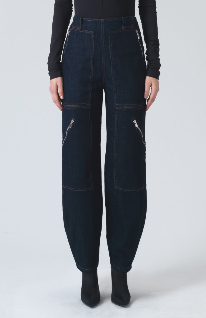 Pistol Rinse Wash Denim Trousers