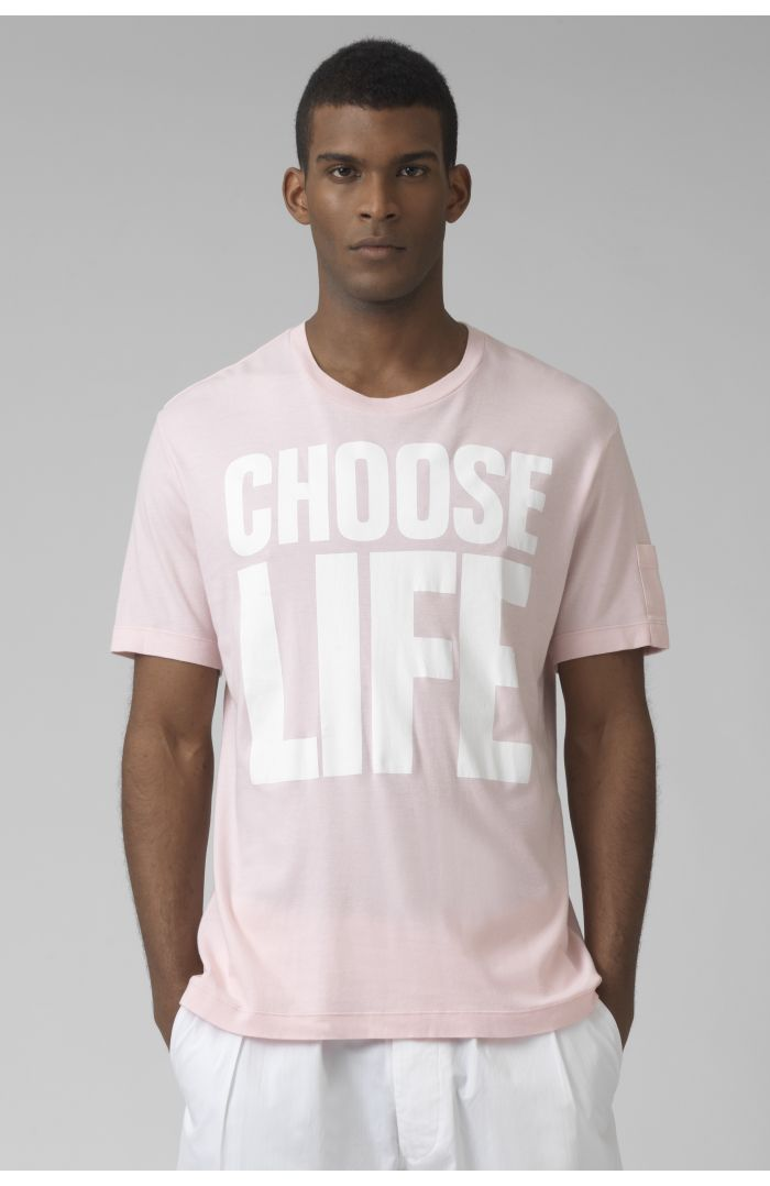 choose life organic cotton azalea t-shirt