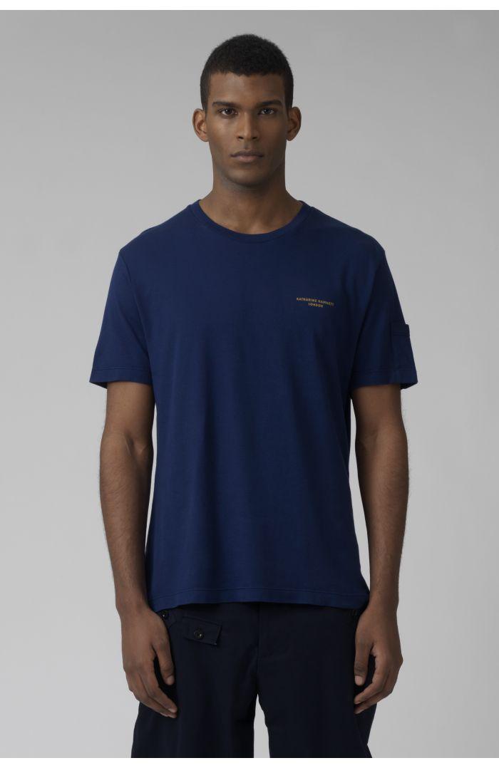 Ivan deep blue organic cotton t-shirt