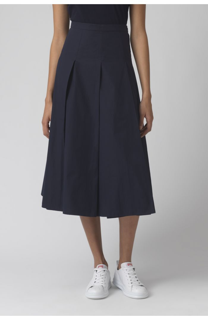 Rose navy organic cotton skirt