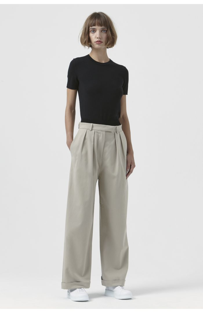 Camilla Sand Organic Cotton Trousers