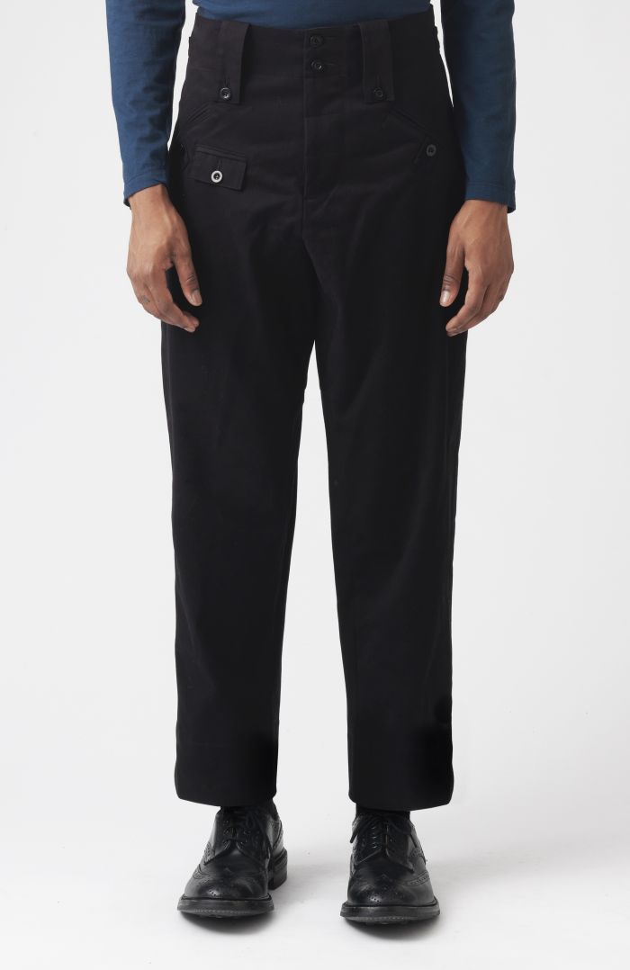 Rider Black Organic Cotton Trousers
