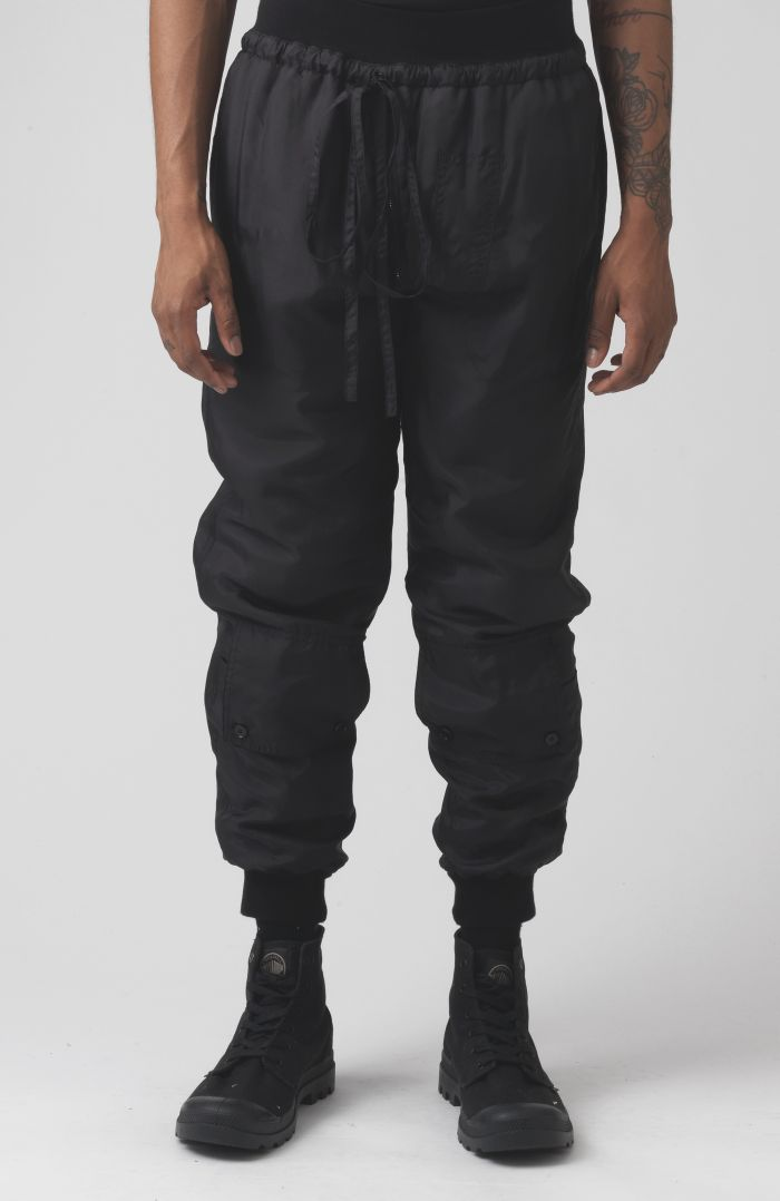 Paddy Black Silk Trackpants