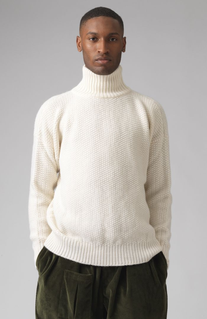 Oscar White Wool Jumper