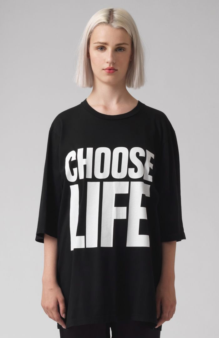 Choose Life Black Oversized T-Shirt