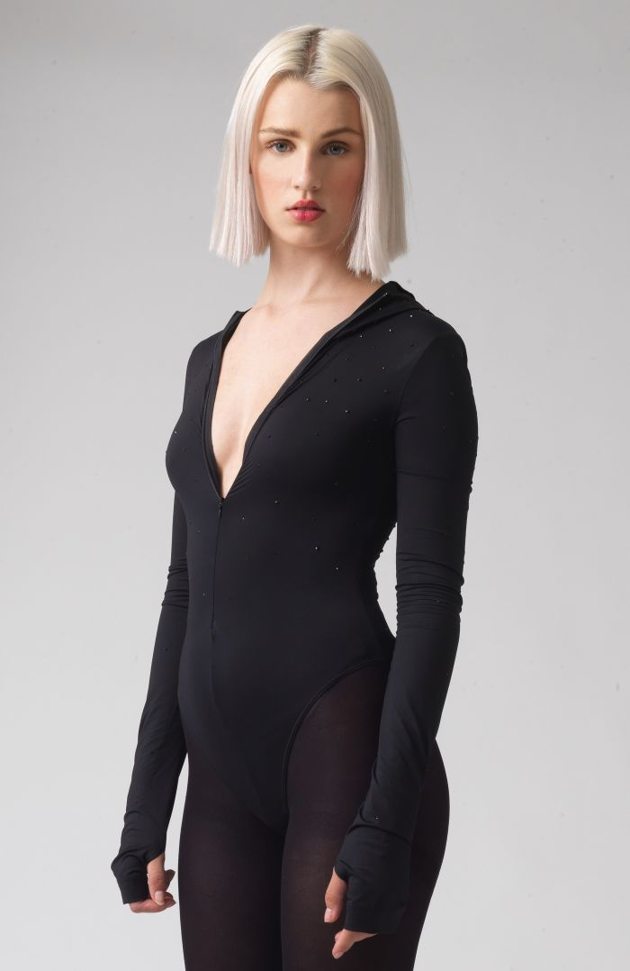 Hetty Black Recycled Polyester Swarovski Body