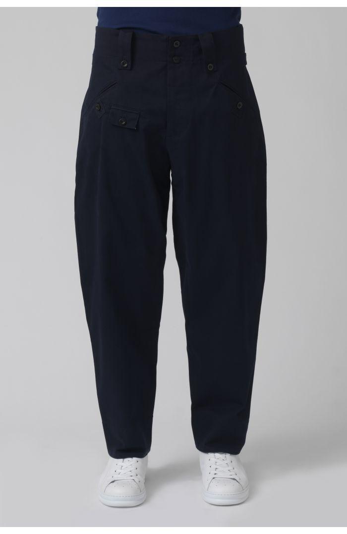 Rider Navy Organic Cotton Trousers