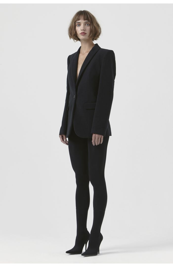 Sofia Black Organic Cotton Blazer