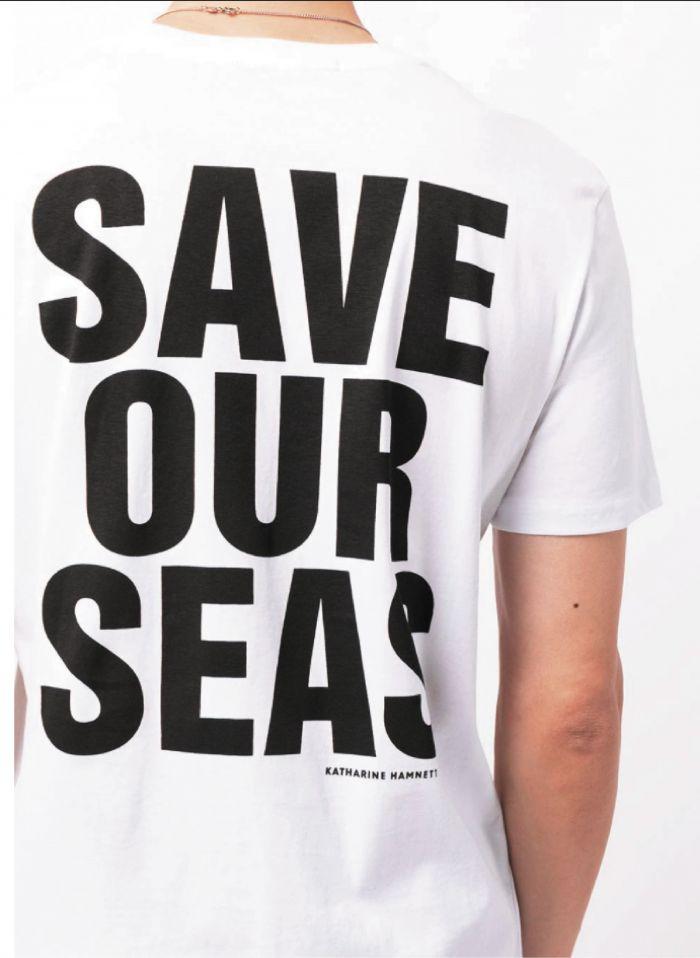 SAVE OUR SEAS SHORT SLEEVE WHITE T-SHIRT