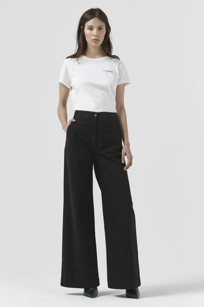 Anna Black Organic Cotton Trousers